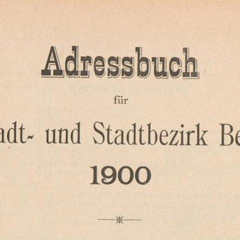 Adressbücher